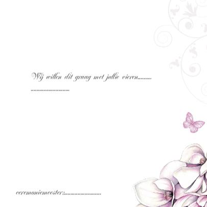 Trouwkaart met mooie magnolia 3