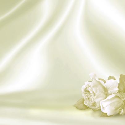 Trouwkaart met rozen op satijn 3