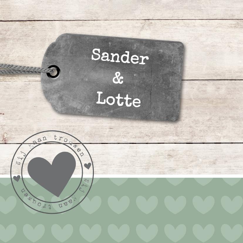 Trouwkaart Sander en Lotte 1