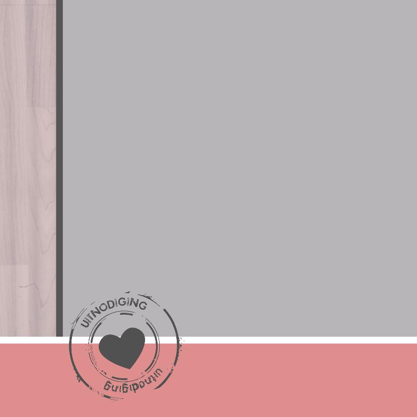Trouwkaart steigerroze - SZ 2