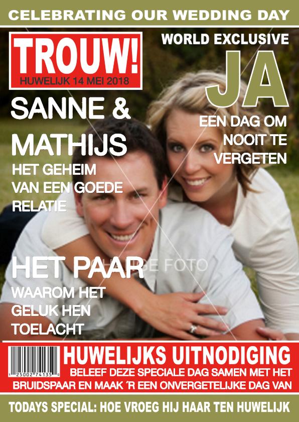 Trouwkaart Tijdschrift Eigen Foto 1