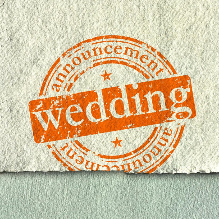 Trouwkaart Wedding Announcement 1