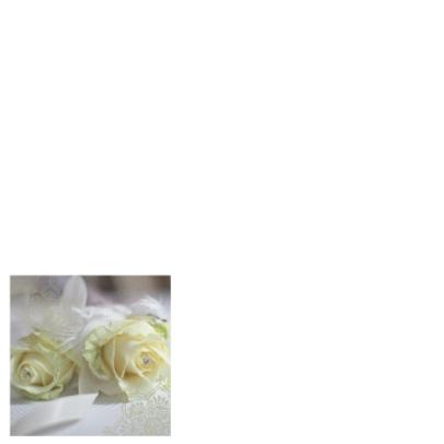 Trouwkaart witte roos kristal 2