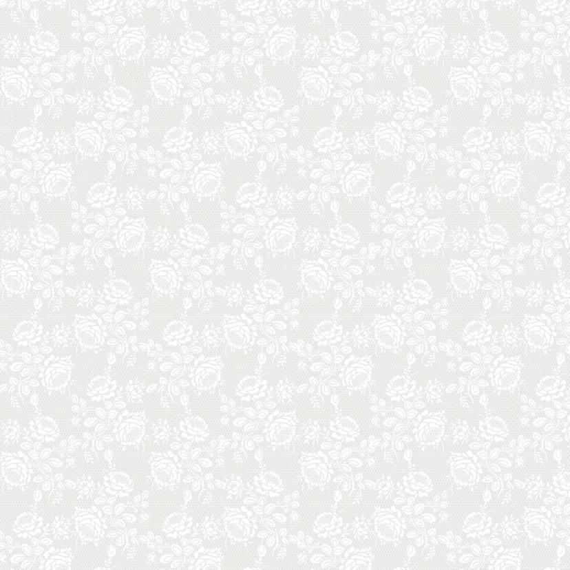 Trouwkaart witte rozen/stippen 2