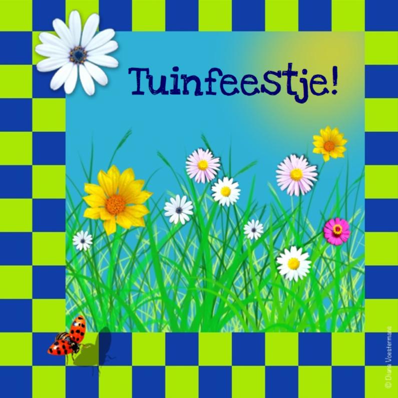 Tuinfeestje ruitjes en bloemetjes 1