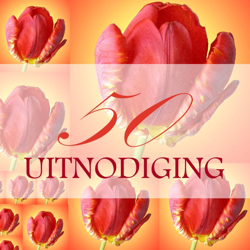 Tulpencollage 50 uitnodiging 1