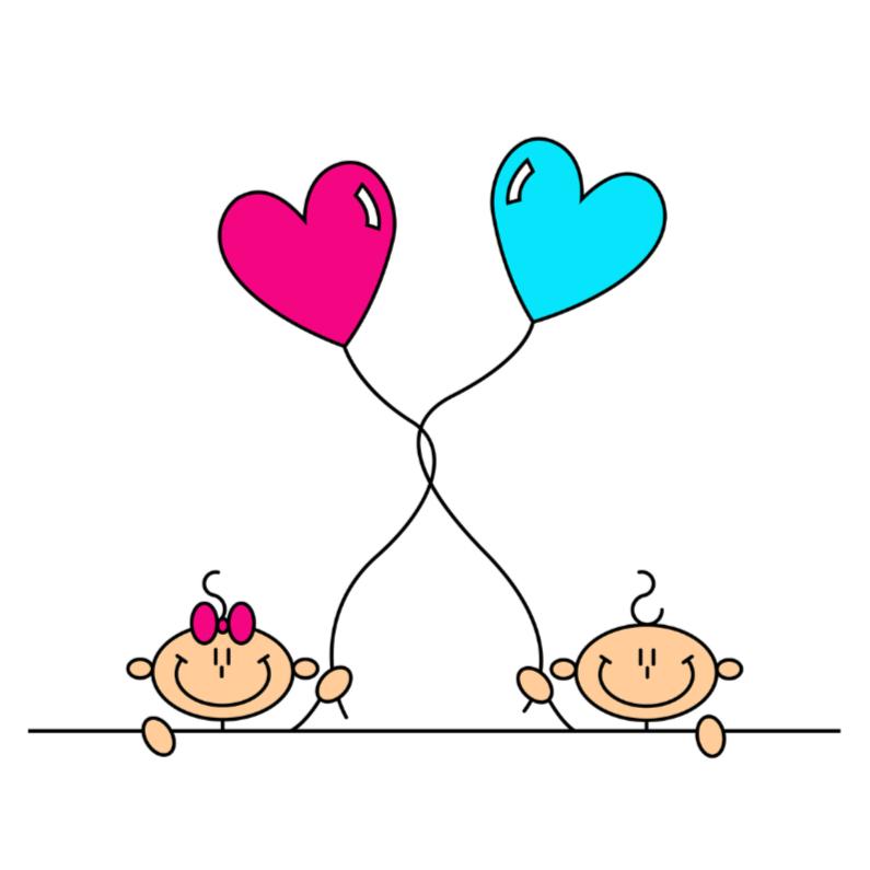 Tweeling jongen en meisje felicitatiekaarten kaartje2go - Twee meisjes en een jongen ...