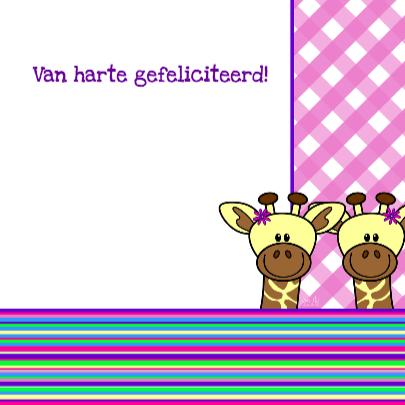 Tweeling meisjes giraffes 3