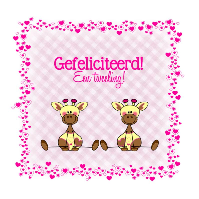 Tweeling meisjes Lieve GIRAFFES 1