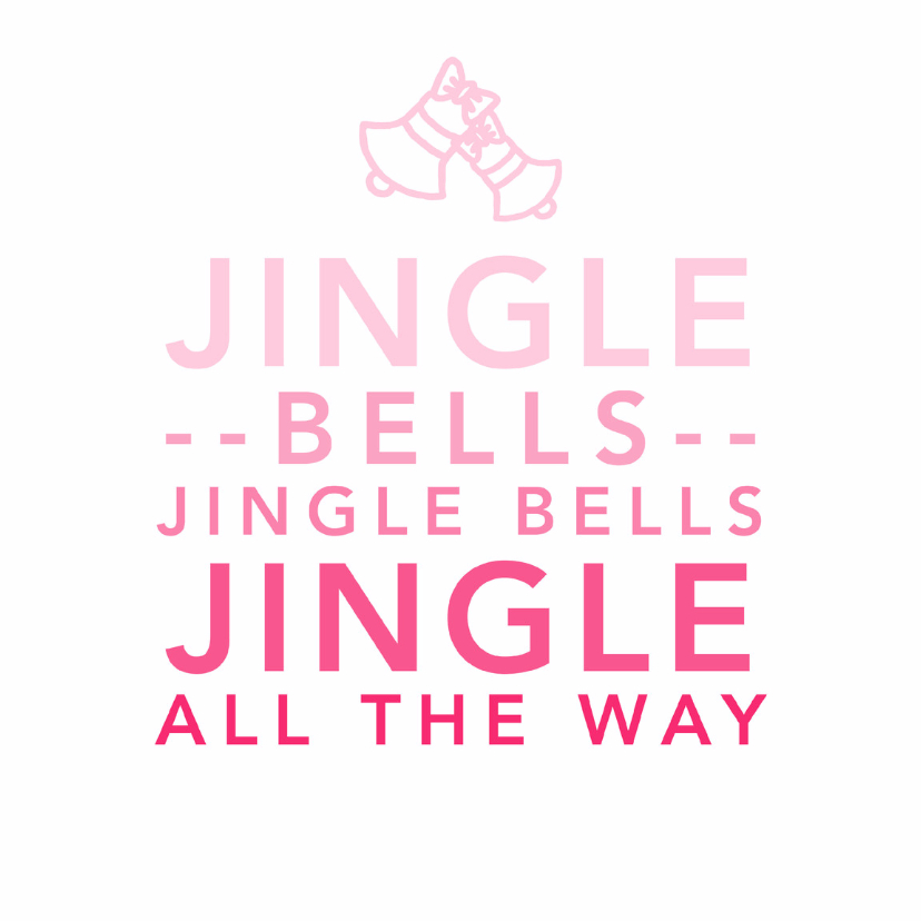 Typografie jingle bells - DH 1