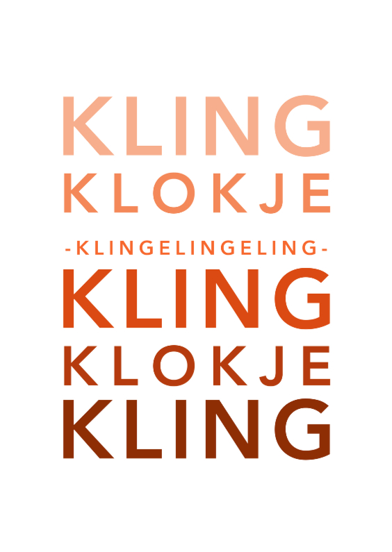 Typografie kling klokje - DH 1
