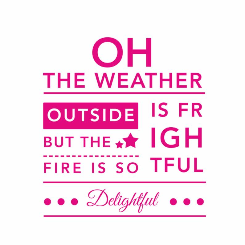 Typografie let it snow - DH 1