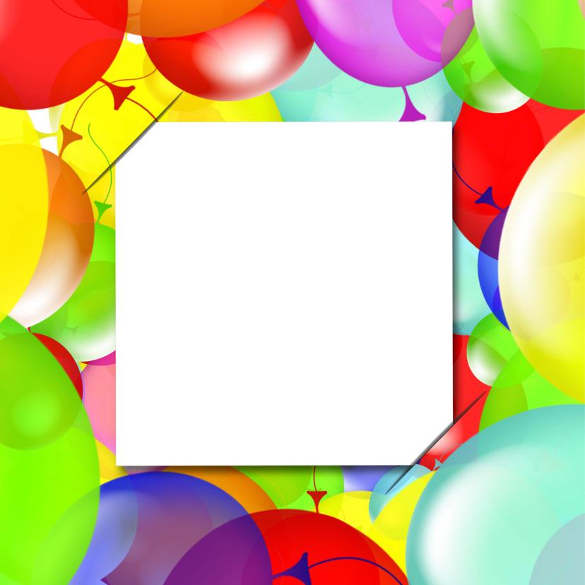 Uitnodiging 4x foto ballonnen RB 2
