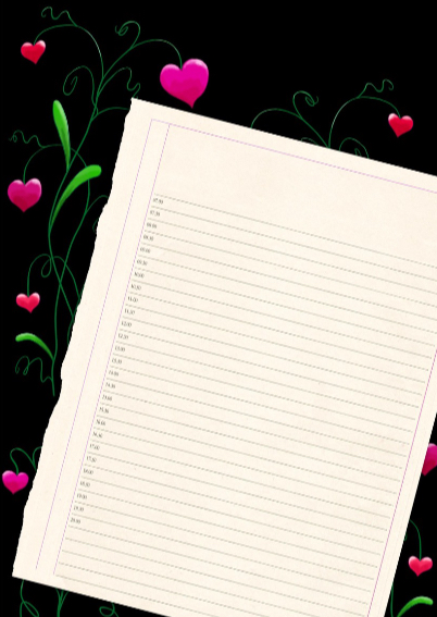 Uitnodiging agendablad vlinder S 3