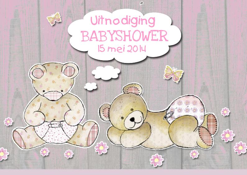 Uitnodiging Babyshower beertjes 1