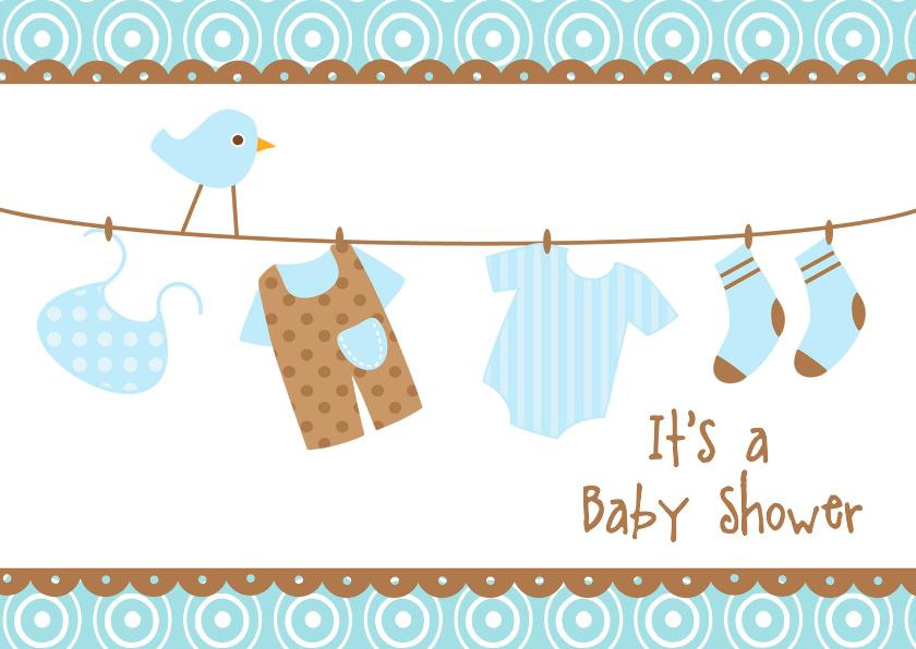 Uitnodiging Babyshower blauw 2 1