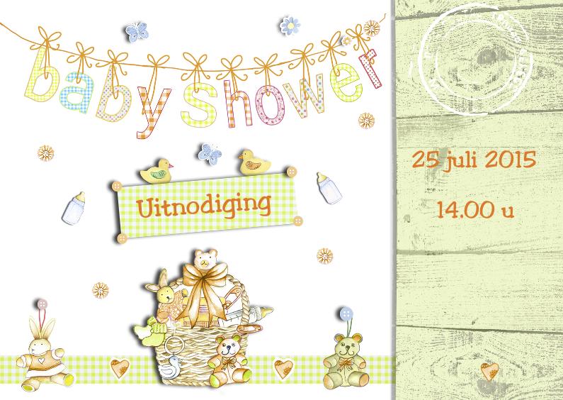 Uitnodiging Babyshower boy and girl 1