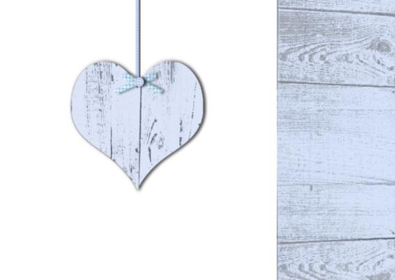 uitnodiging babyshower jongen hart 2