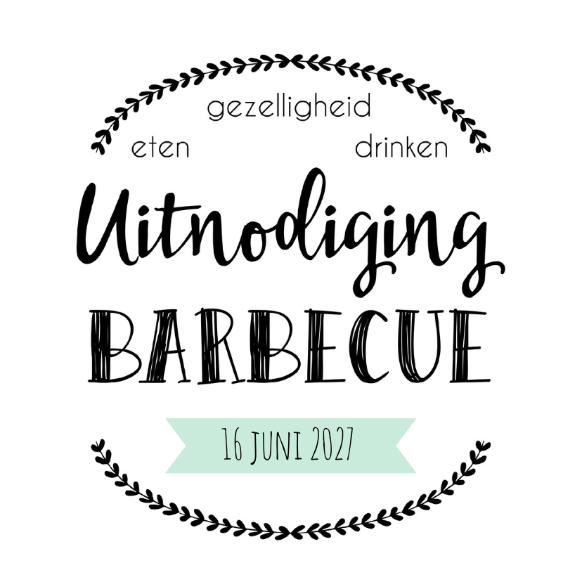 Uitnodiging Barbecue - WW 1