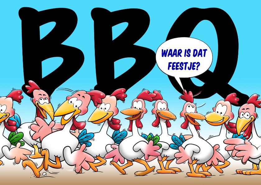 Uitnodiging BBQ met kippen - HE 1