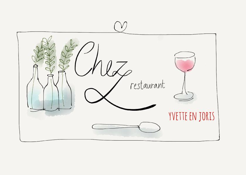 Uitnodiging Chez Restaurant II 1