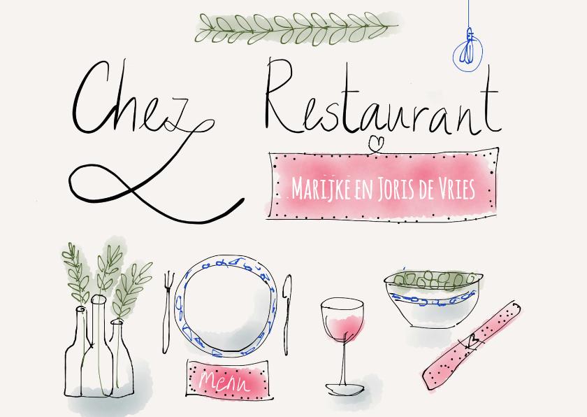 Uitnodiging Chez Restaurant 1