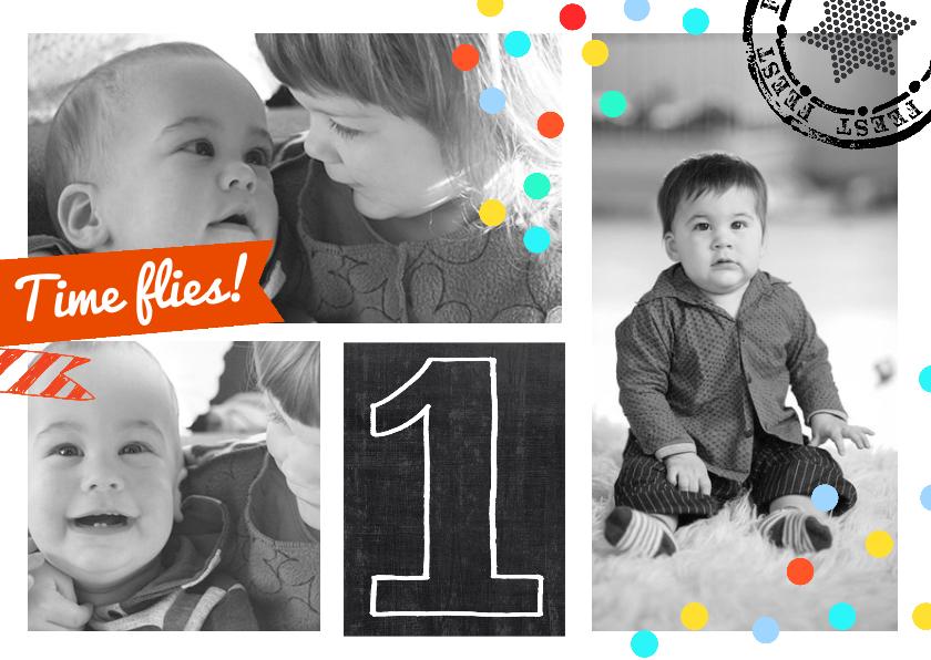 Uitnodiging Collage 1 jaar boy 1