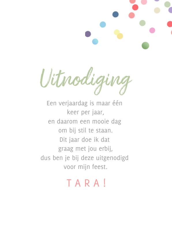 Uitnodiging confetti kaart 3