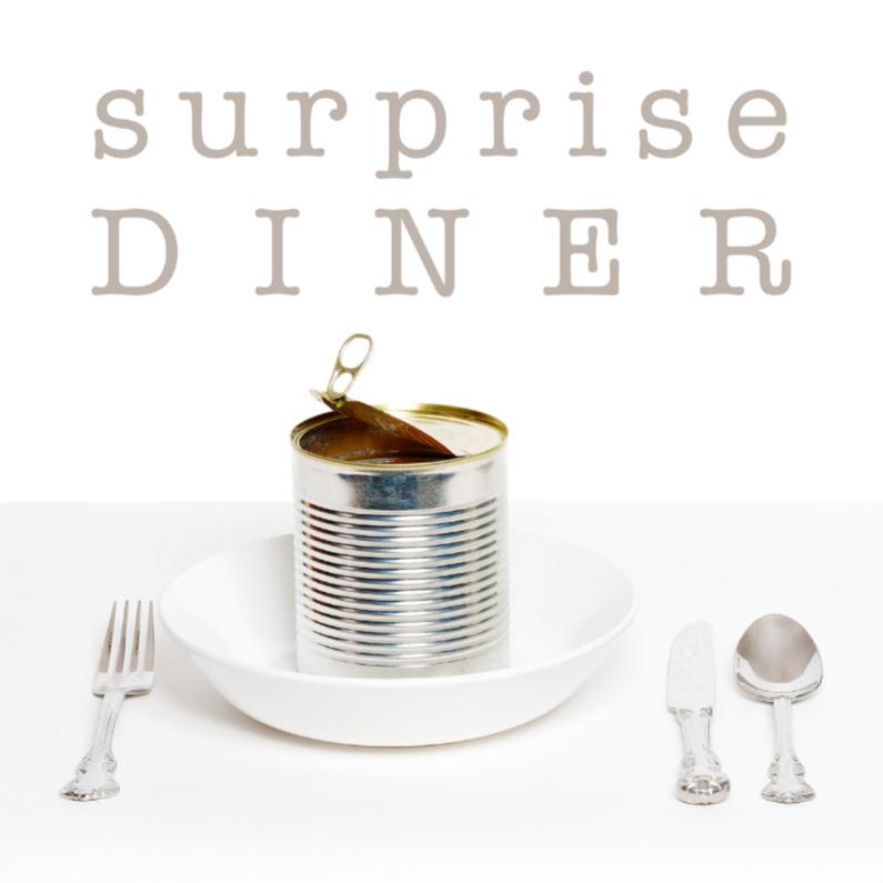 Uitnodiging etentje - Surprise Diner 1