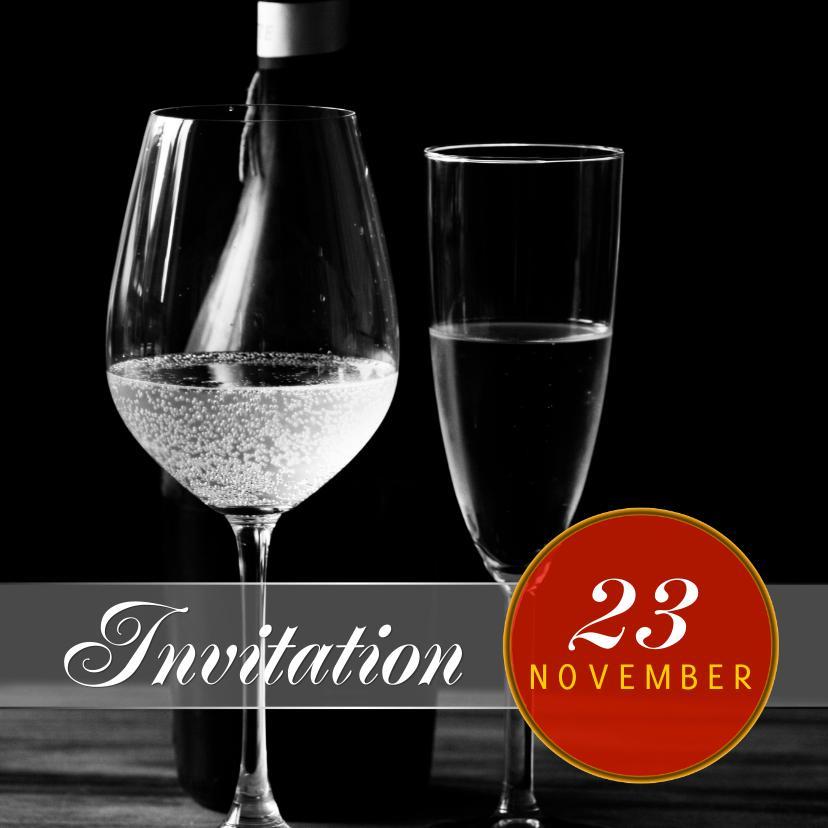Uitnodiging feest stijlvol a 1
