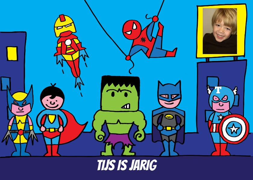 uitnodiging feest superhelden 1
