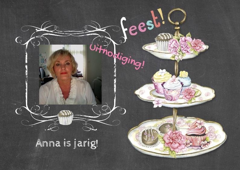 uitnodiging feest taartjes 1