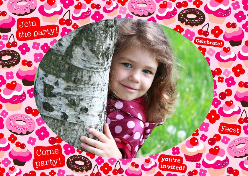Uitnodiging Feestje Cupcakes Foto 1