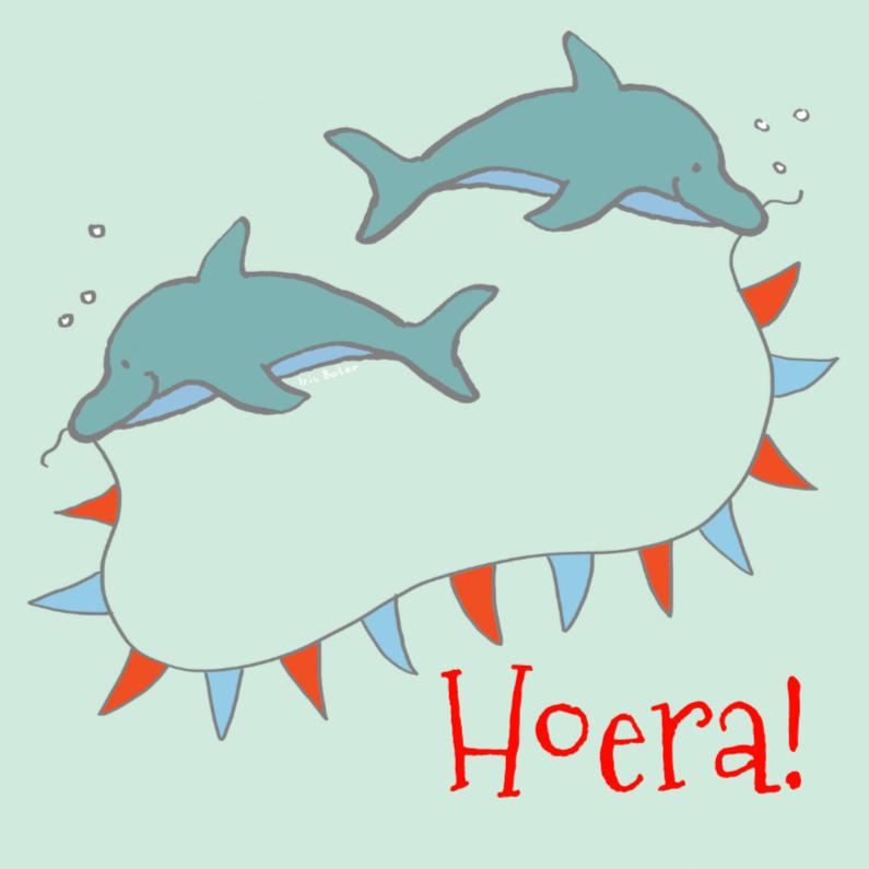 Uitnodiging feestje dolfijn 1