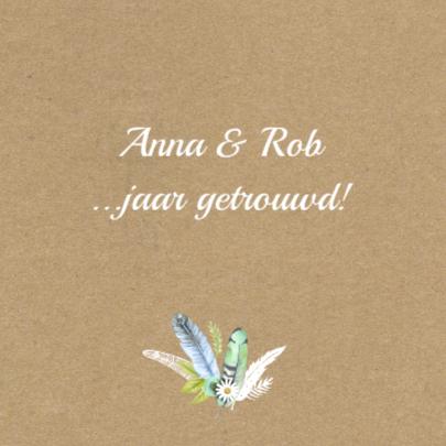 uitnodiging hart veren getrouwd 2