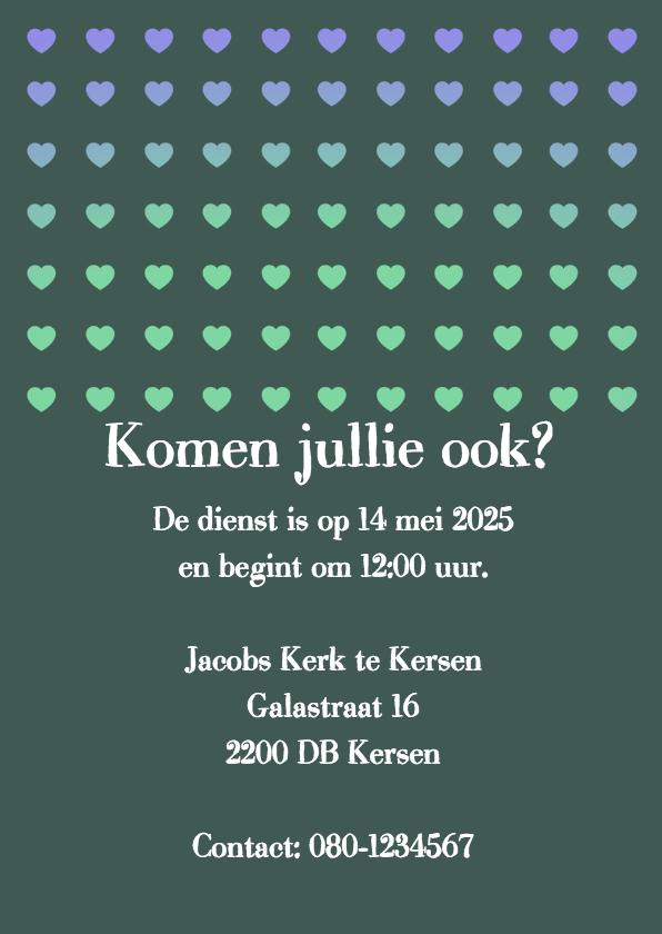 Uitnodiging hartjes groen - BK 2