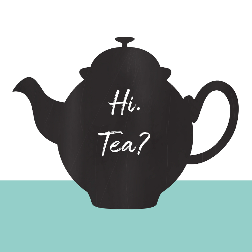 Uitnodiging high tea chalkboard 1