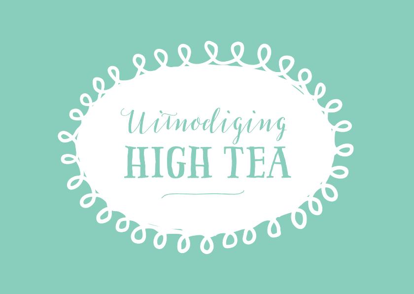 Uitnodiging high tea mintgroen 1
