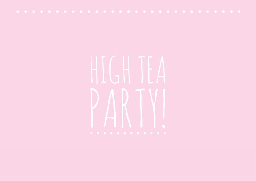 Uitnodiging high tea party 2