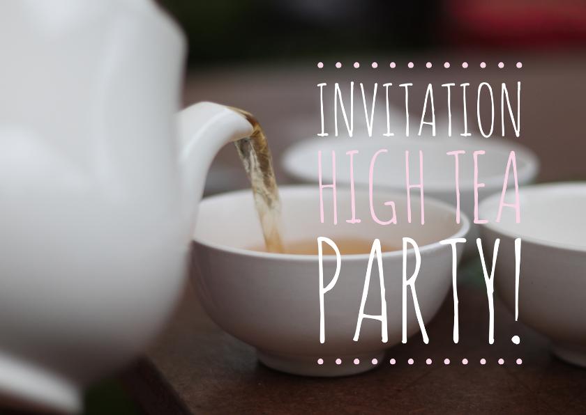 Uitnodiging high tea party 1