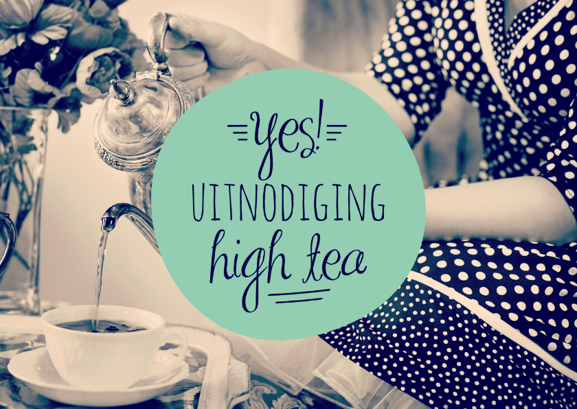 Uitnodiging high tea retro 1