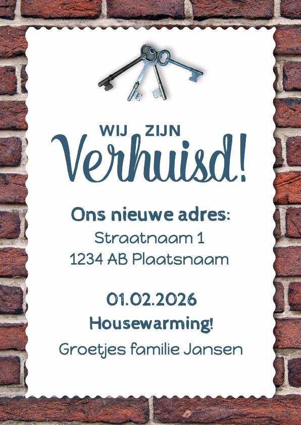 Uitnodiging Housewarming - DH 1