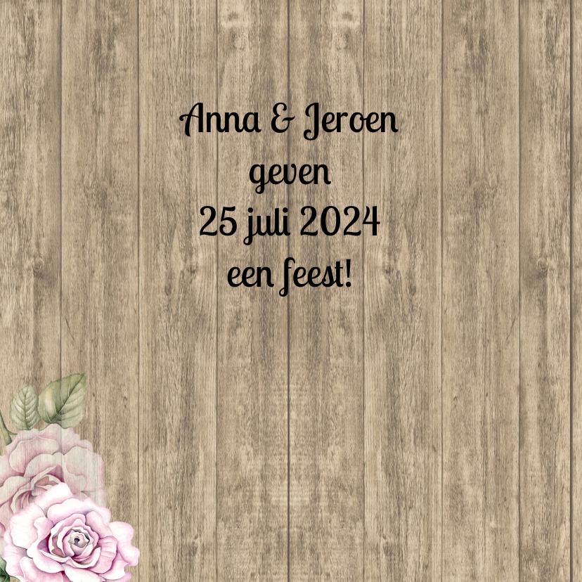 Uitnodiging hout jubileum 2