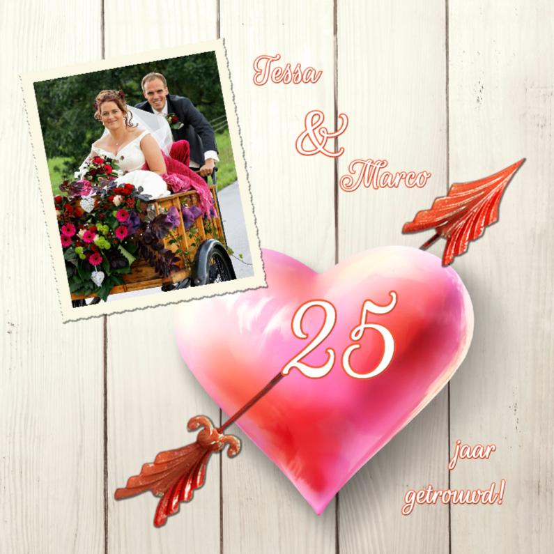 Uitnodiging huwelijksfeest hart 1