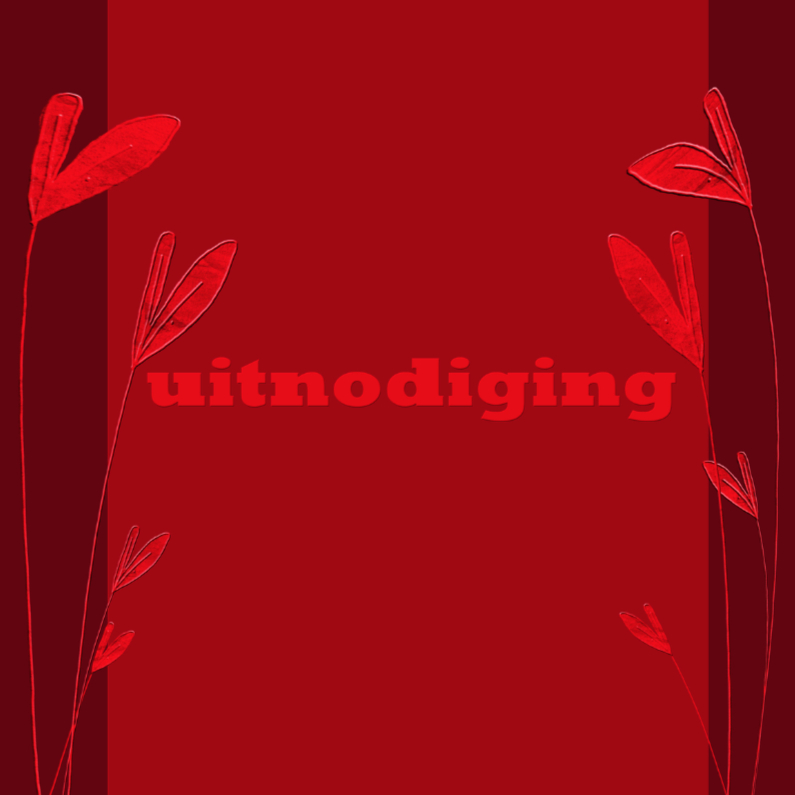 uitnodiging in rood 1