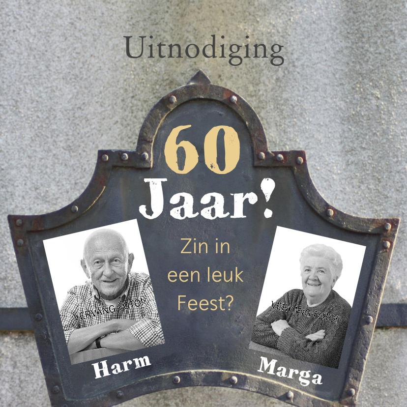 Uitnodiging jubileum 60 jaar 1