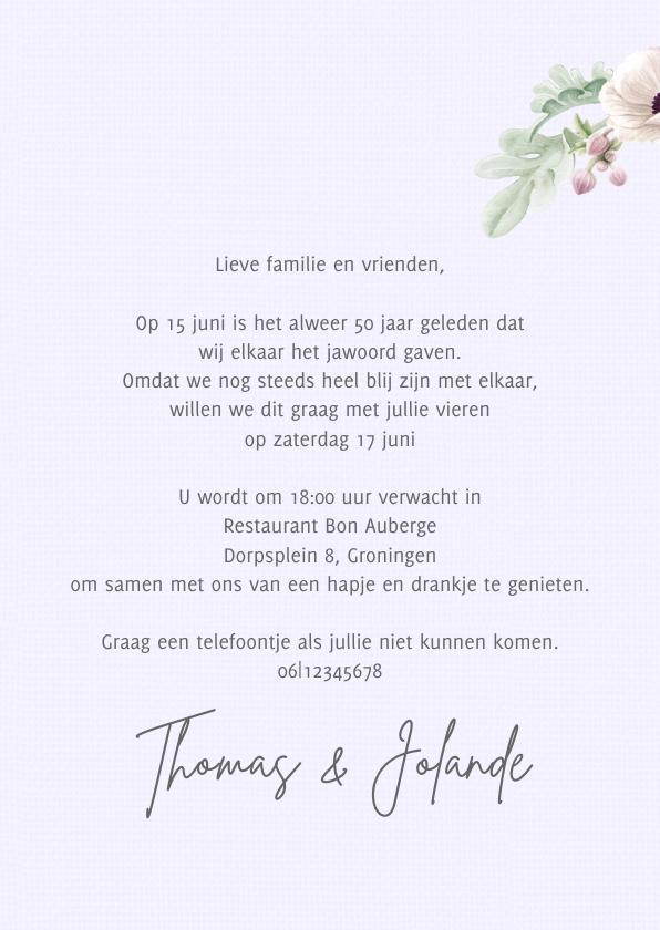 Uitnodiging jubileum anemonen 2