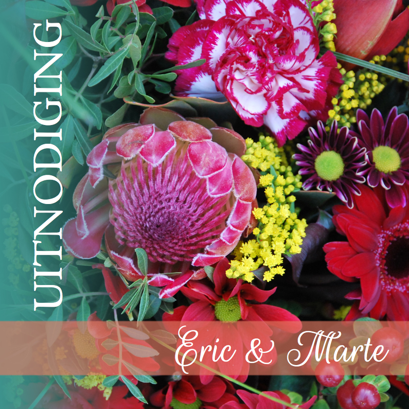 Uitnodiging jubileum bloem av 1