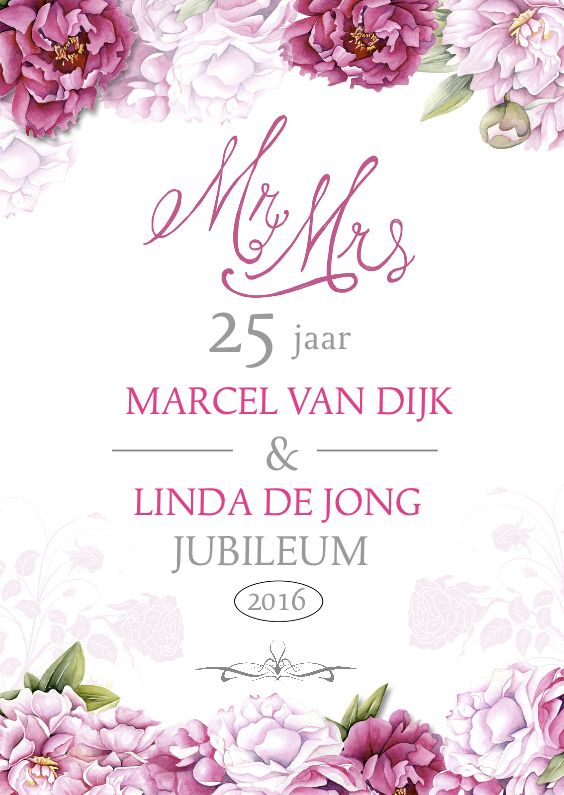 Uitnodiging jubileum pioenrozen 1