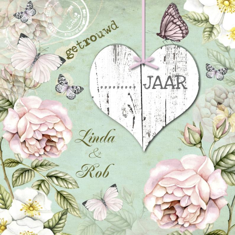 uitnodiging jubileum trouwdag vintage 1
